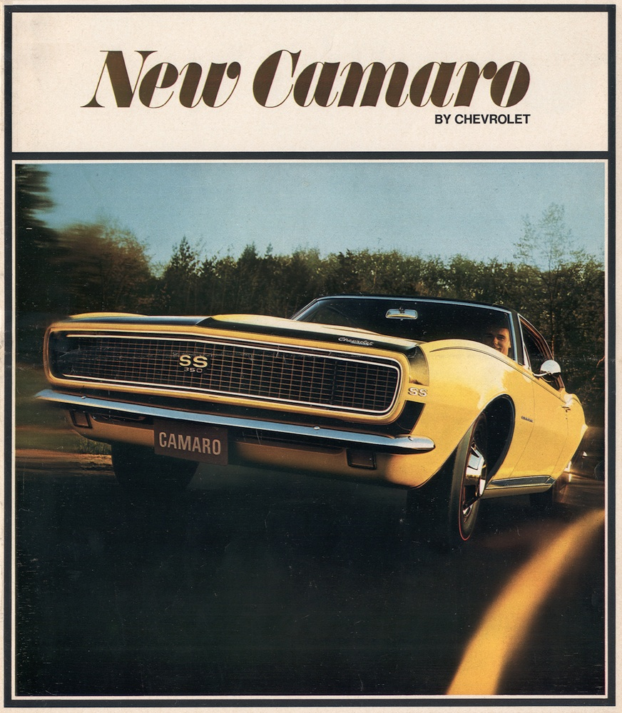 Gm 1967 Chevrolet Camaro Sales Brochure