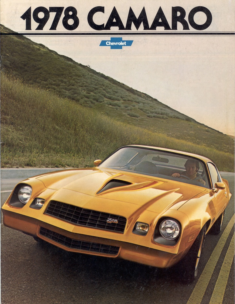 Gm 1978 Chevrolet Camaro Sales Brochure