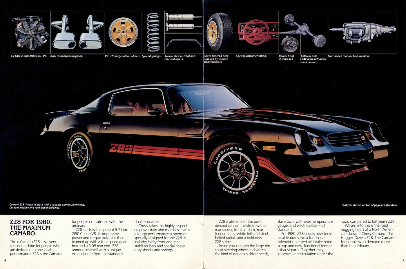 Gm 1980 Chevrolet Camaro Sales Brochure