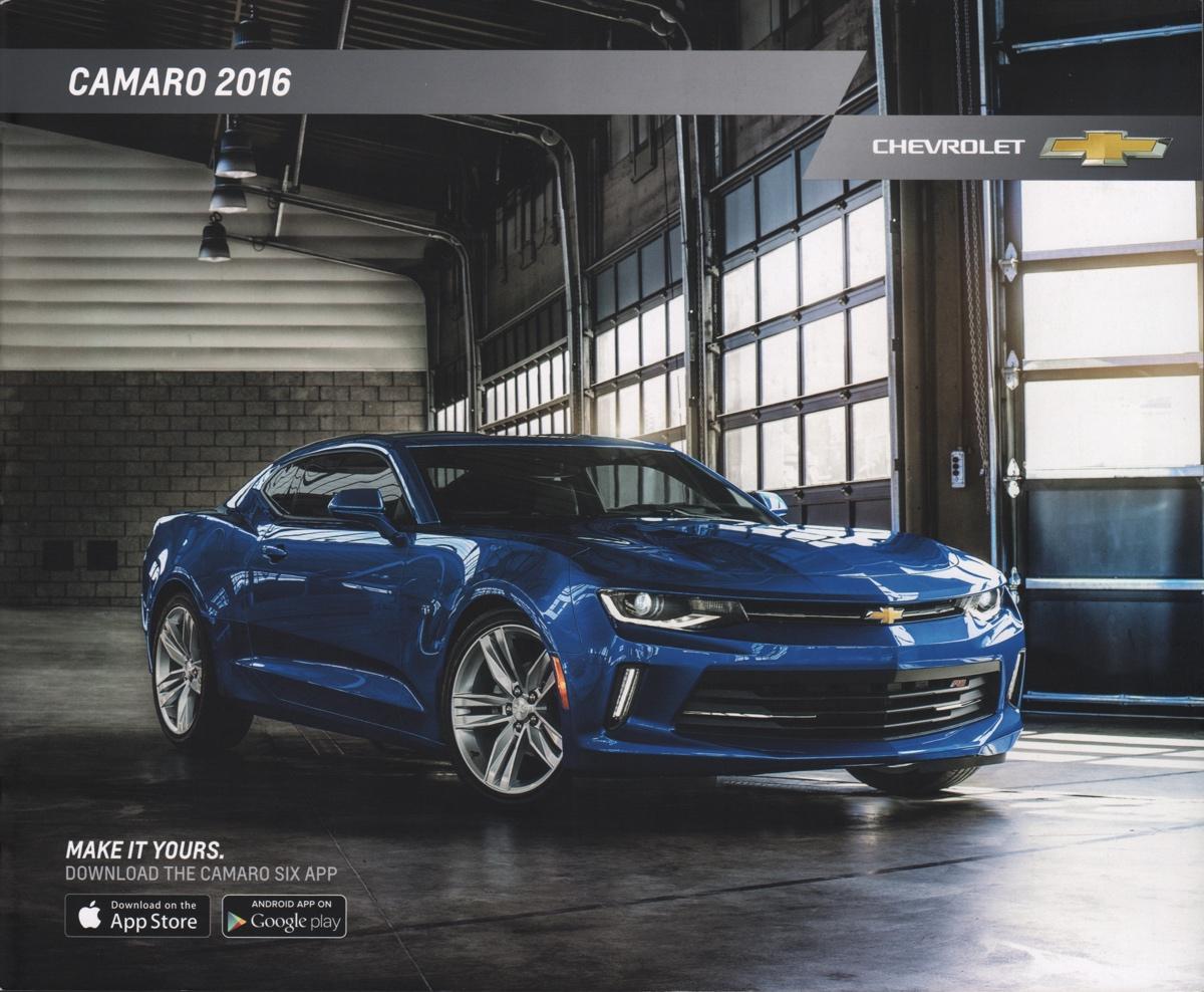 Gm 2016 Chevrolet Camaro Sales Brochure