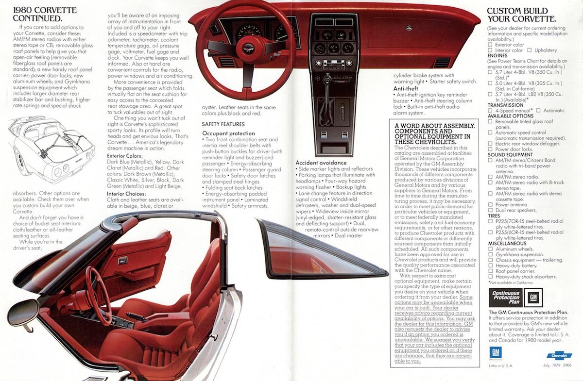 Corvette Sales Brochures