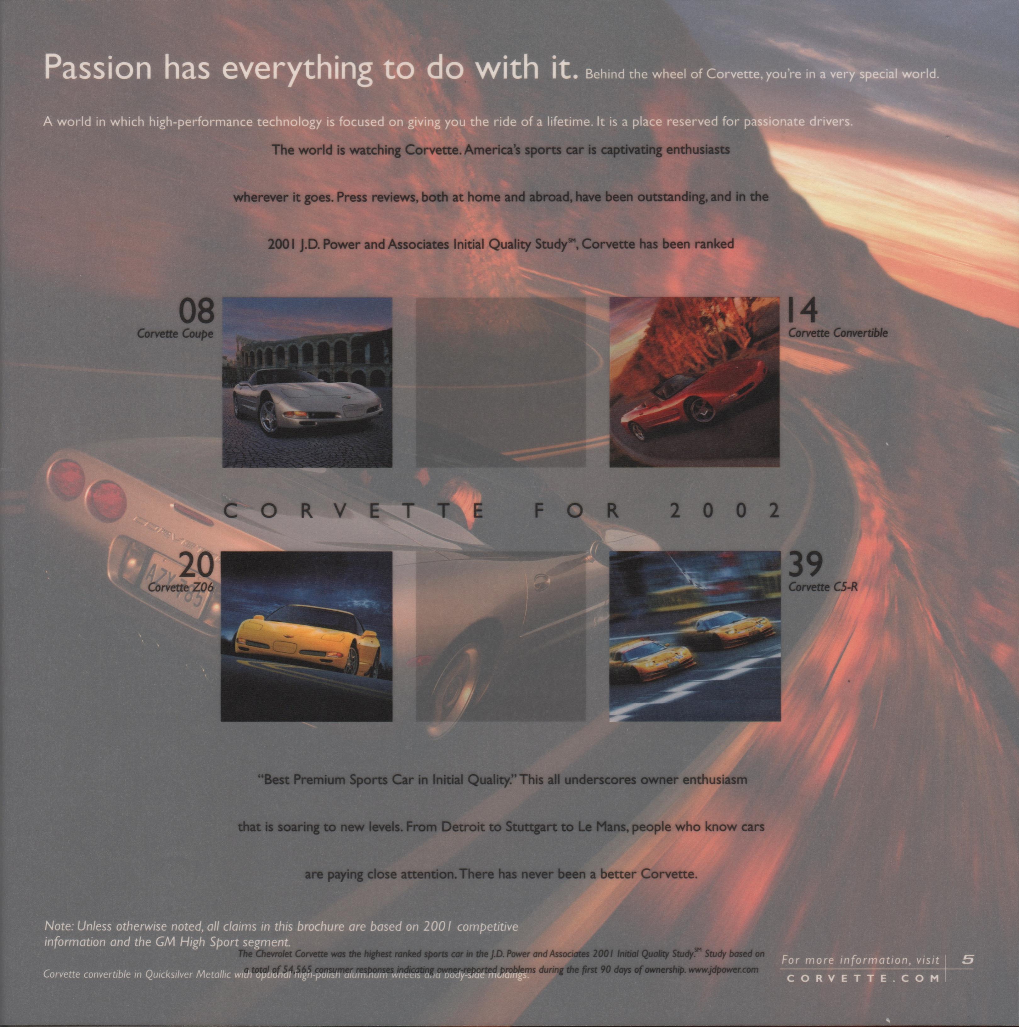 GM 2002 Chevrolet Corvette Sales Brochure