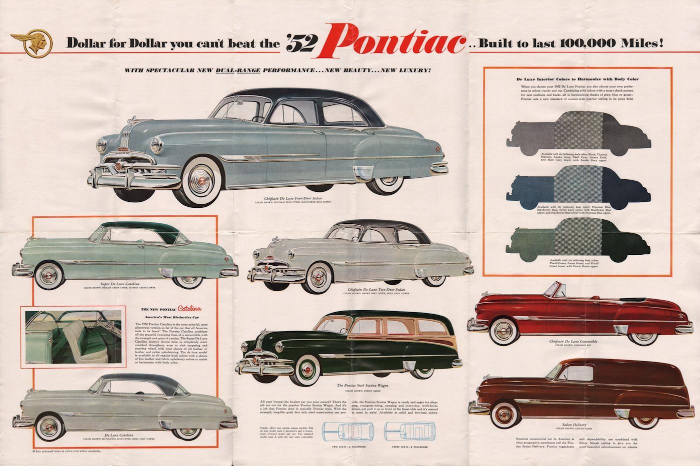 Gm 1952 Pontiac Sales Brochure