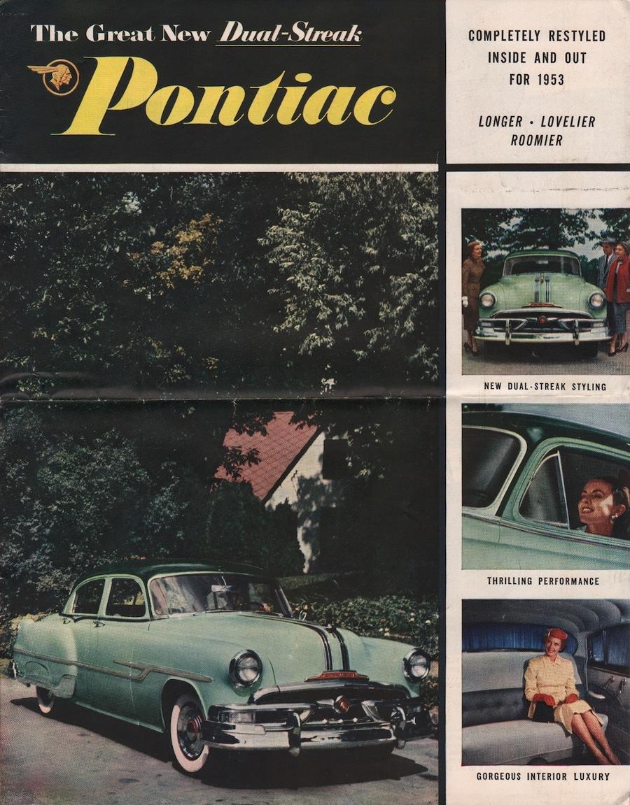 Gm 1953 Pontiac Sales Brochure Chieftain Sedan