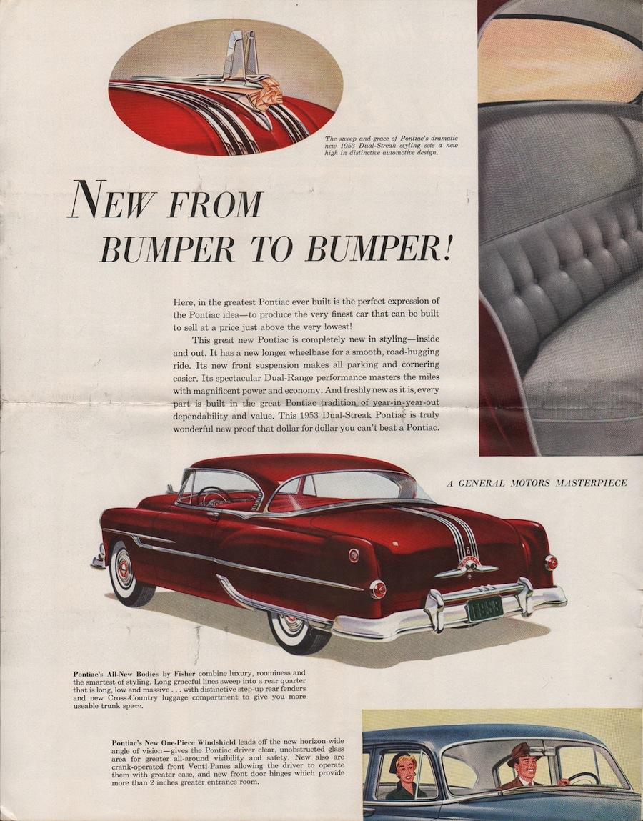 GM 1953 Pontiac Sales Brochure