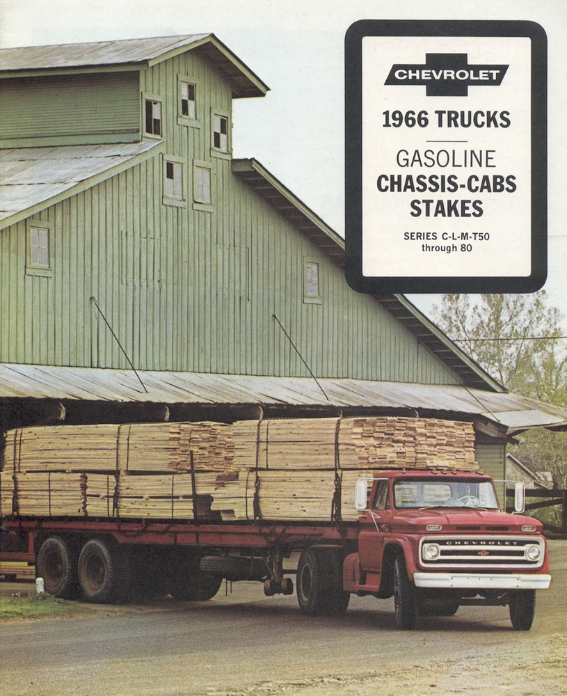 GM 1966 Chassis Cab Stakes Chevy Truck Sales Brochure