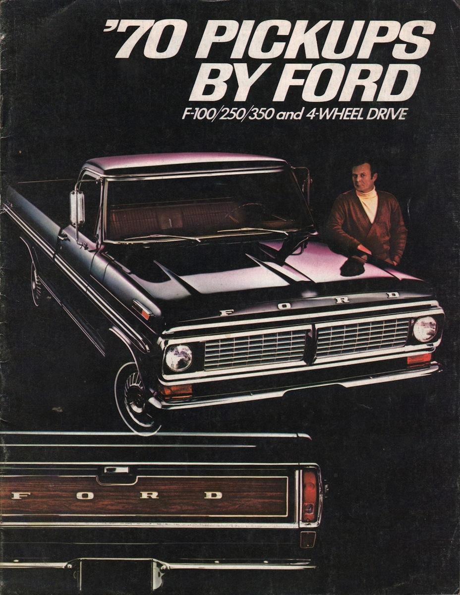 1970 Pickup Ford Truck Sales Brochure 1964 F 250 Camper Special