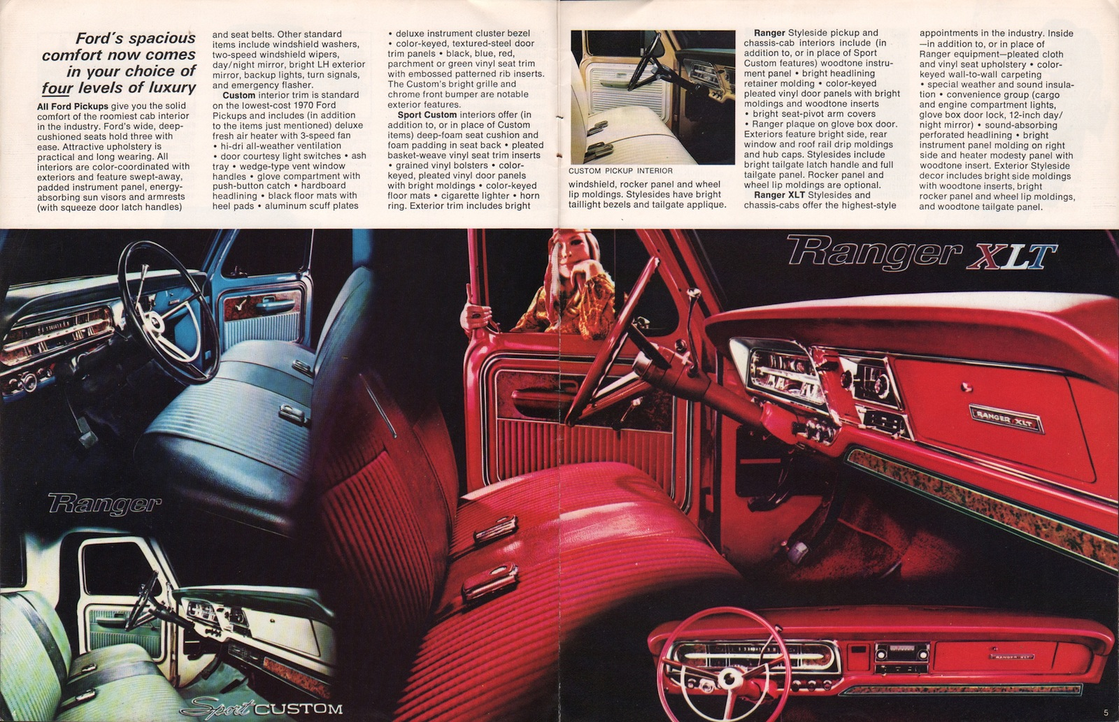 1970 Pickup Ford Truck Sales Brochure