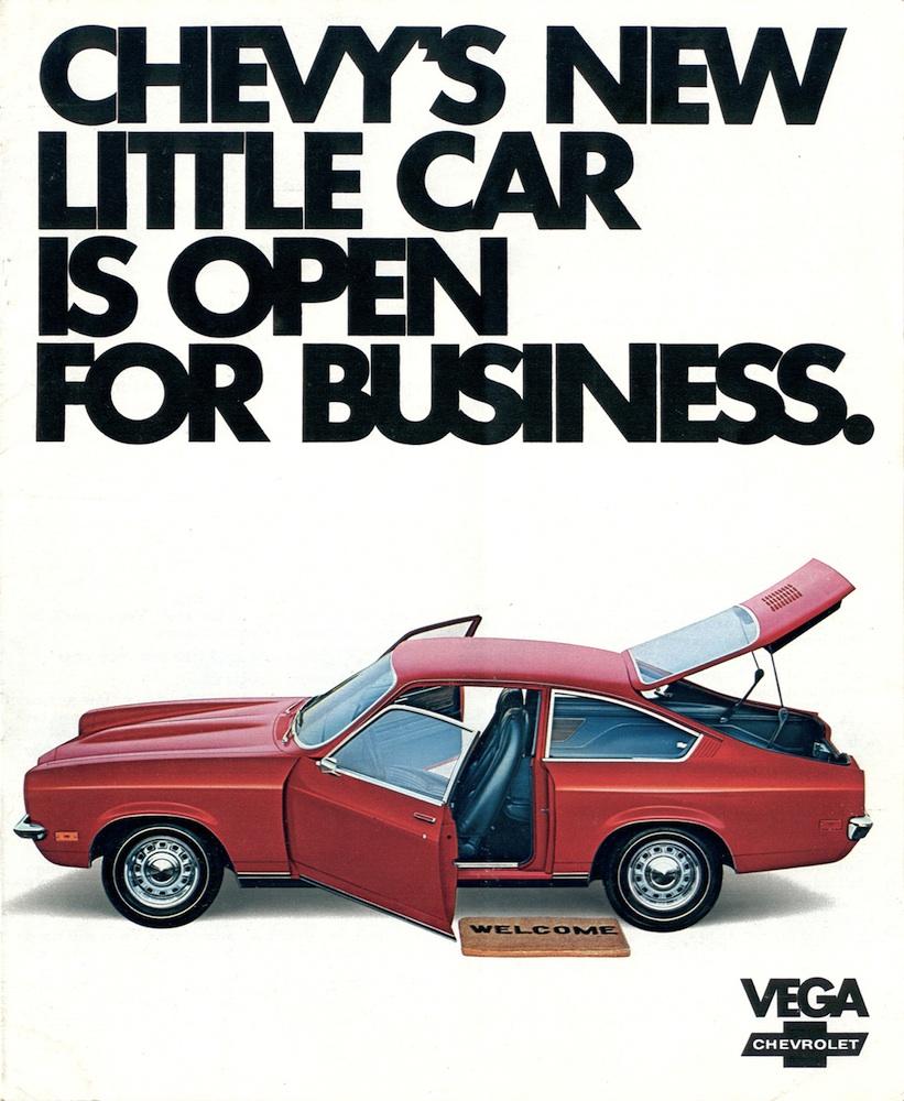 Chevy Camaro White GM 1971 Chevrolet Vega Sales Brochure