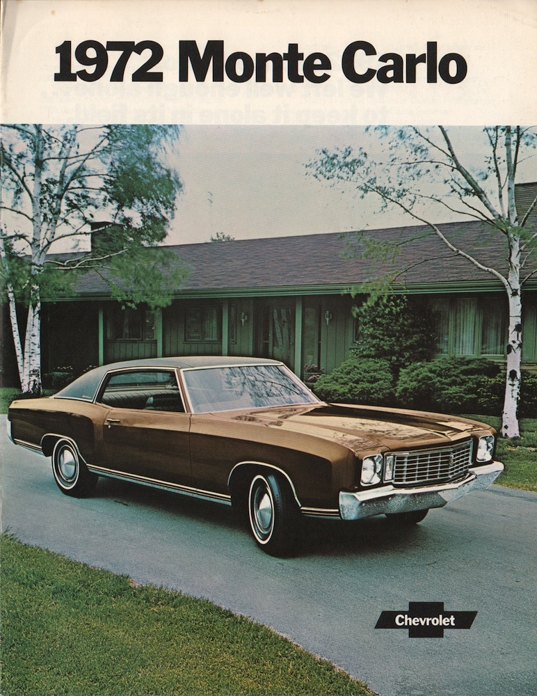 Gm 1972 Chevrolet Monte Carlo Sales Brochure