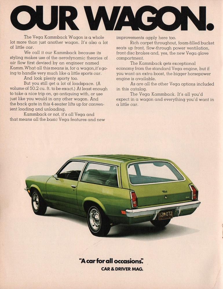 GM 1972 Chevrolet Vega Sales Brochure