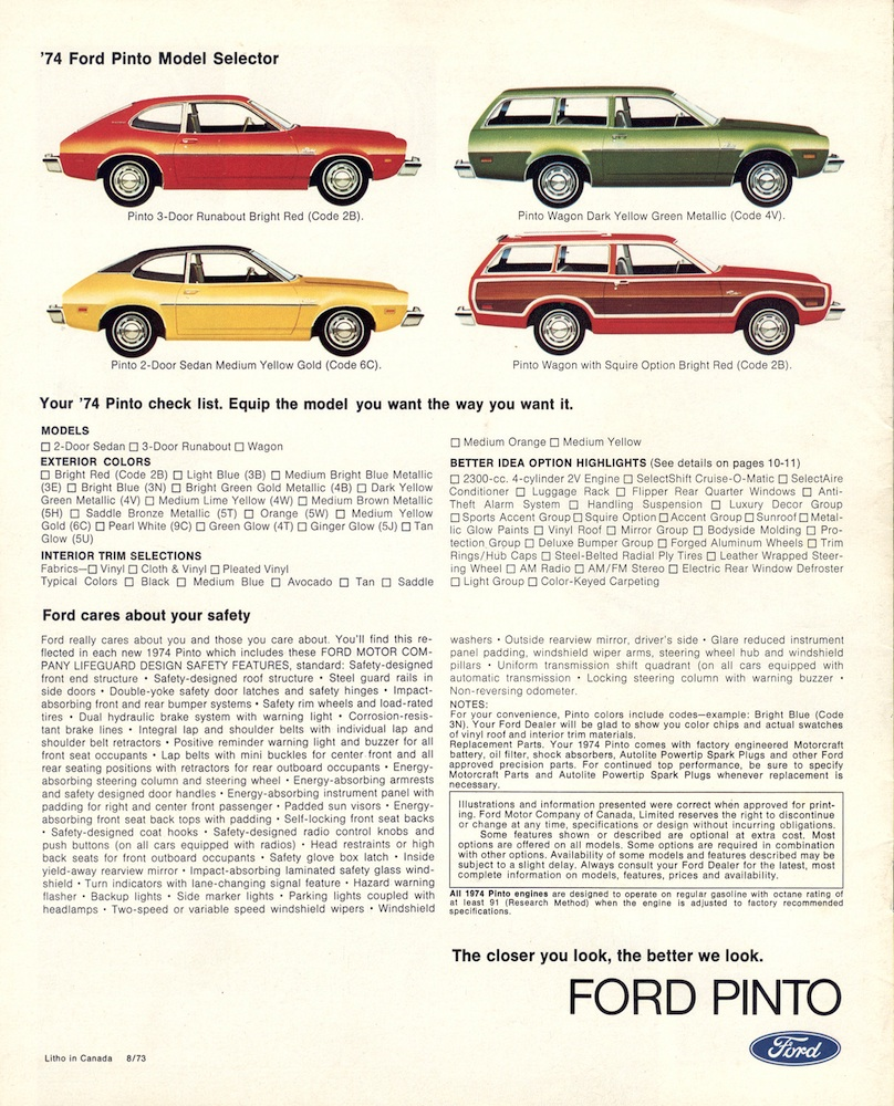 managing product safety the ford pinto essay Managing ethics competency involves in this essay, i will talk about the ford pinto information to the ford pinto case 3 traffic safety and accident.