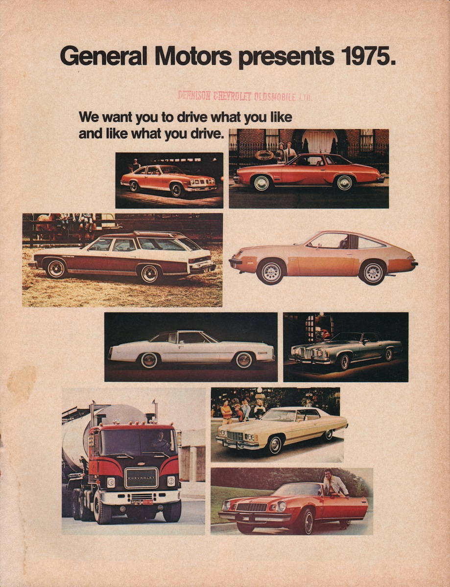 GM 1975 Full Line Up Sales Brochure