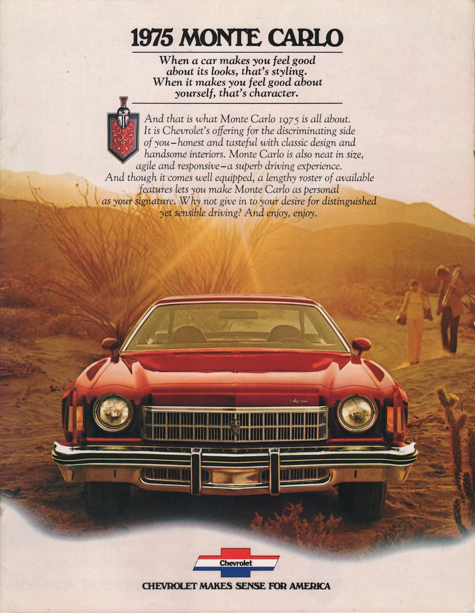 GM 1975 Chevrolet Monte Carlo Sales Brochure