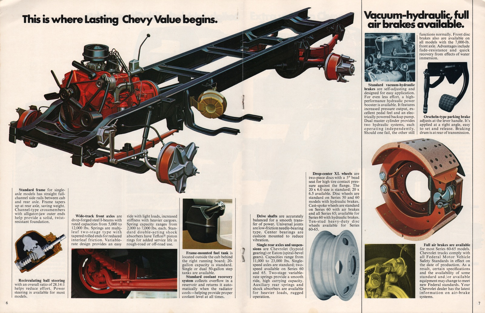 Gm 1976 Medium Duty Chevy Truck Sales Brochure Fuel System Company Marks Emblems And Designs Are Trademarks Or Service Of Please Respect The Time It Took To Acquire These Brochures