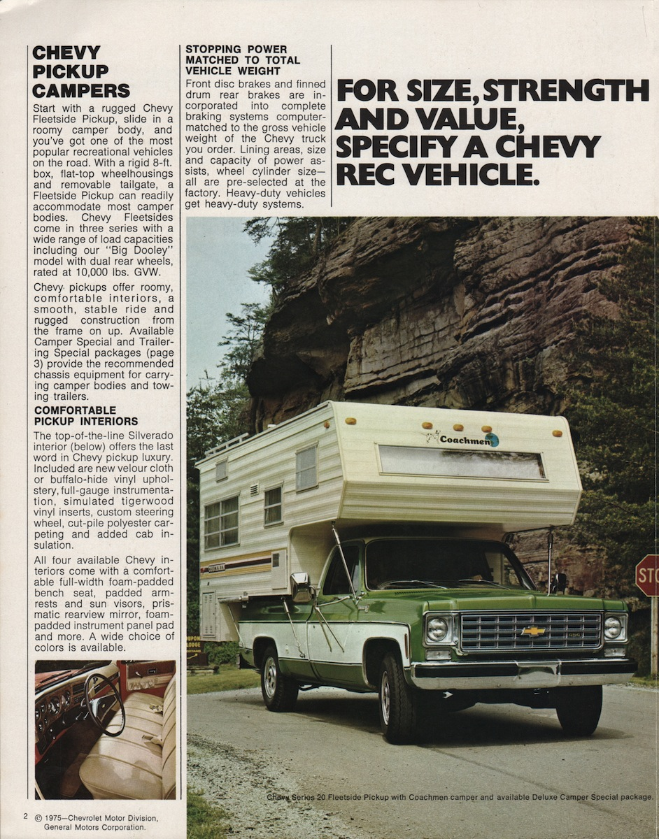 GM 1976 Recreation Vehicles Chevy Truck Sales Brochure