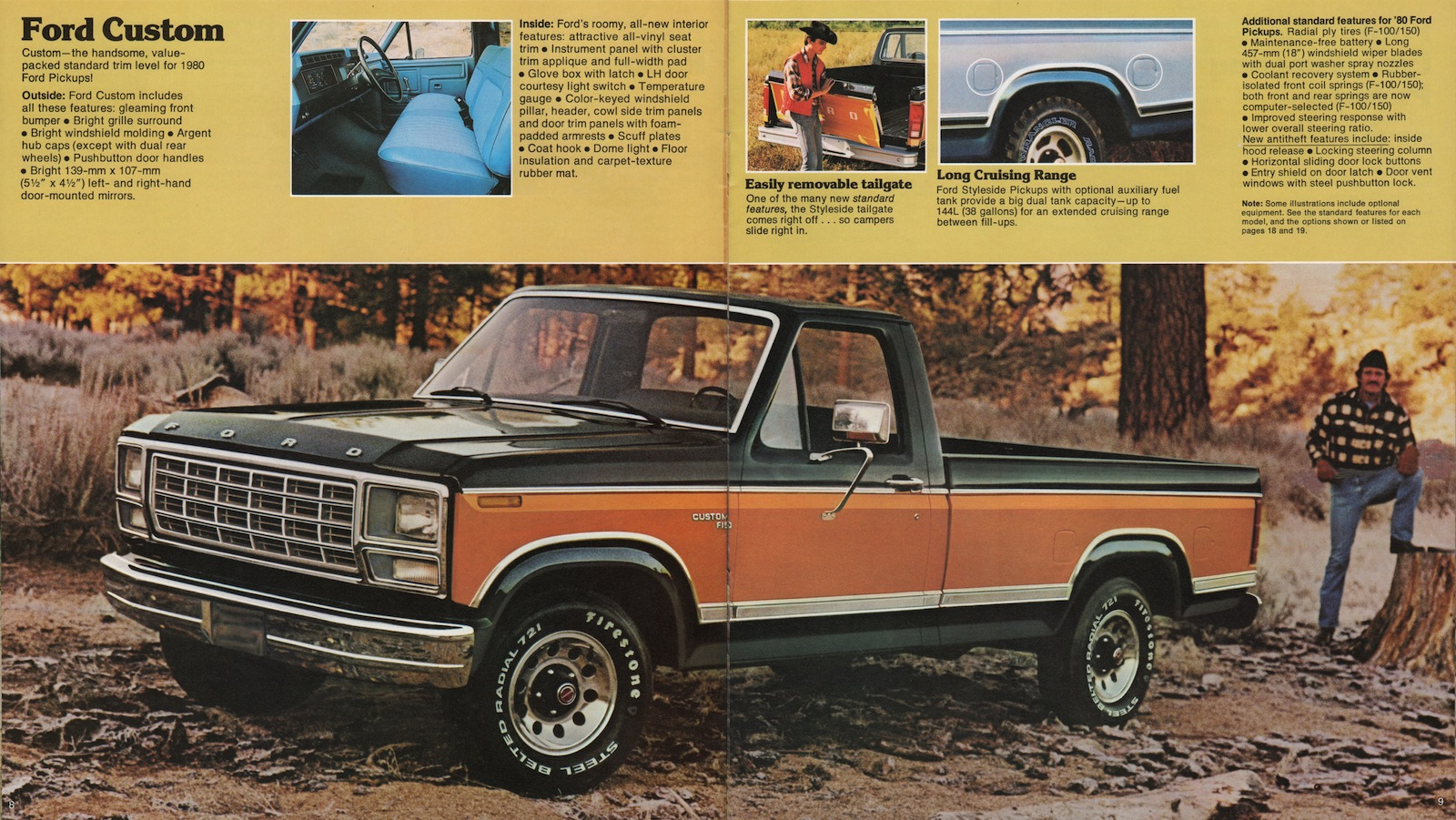 92 1980 Pickups Spoked Wheels And Tape Stripes Continued To Dress Dodge Truck Brochure Brochures Are Presented For Research Use Only Company Marks Emblems Designs Trademarks Or Service Of
