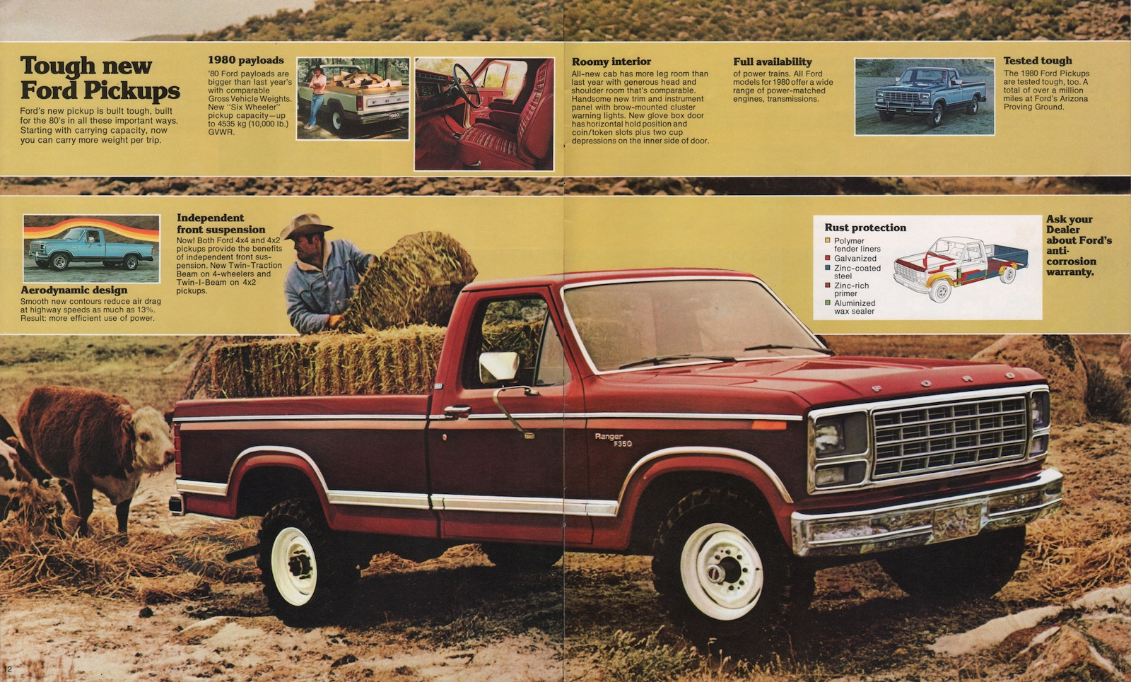 1980 Pickup Ford Truck Sales Brochure Bronco Interior Company Marks Emblems And Designs Are Trademarks Or Service Of Please Respect The Time It Took To Acquire These Brochures