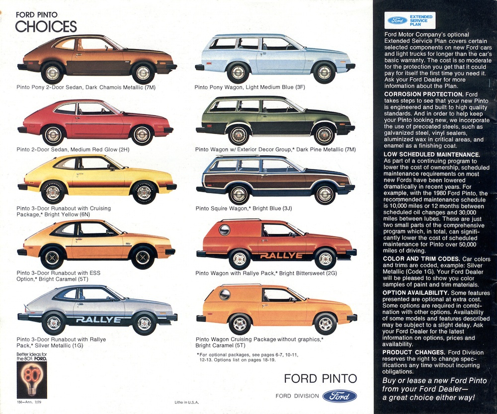 Ford 1980 pinto sales brochure brochures are presented for research use only company marks emblems and designs are trademarks andor service marks of ford sciox Gallery