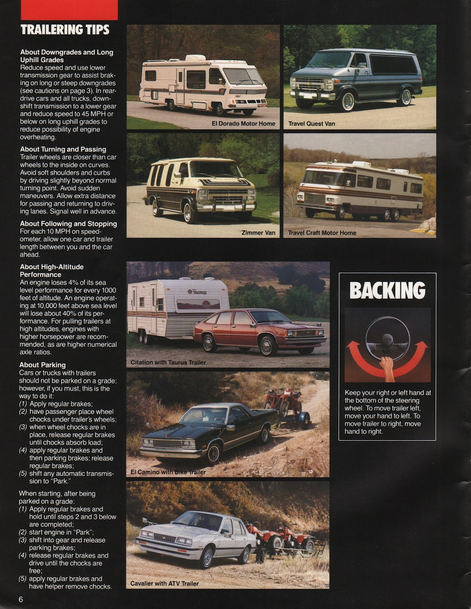 GM 1985 Recreation Vehicles Chevy Truck Sales Brochure