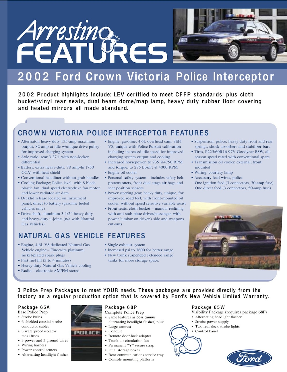 Ford 2004 Police Vehicles Sales Brochure Crown Wire Harness Brochures Are Presented For Research Use Only Company Marks Emblems And Designs Trademarks Or Service Of