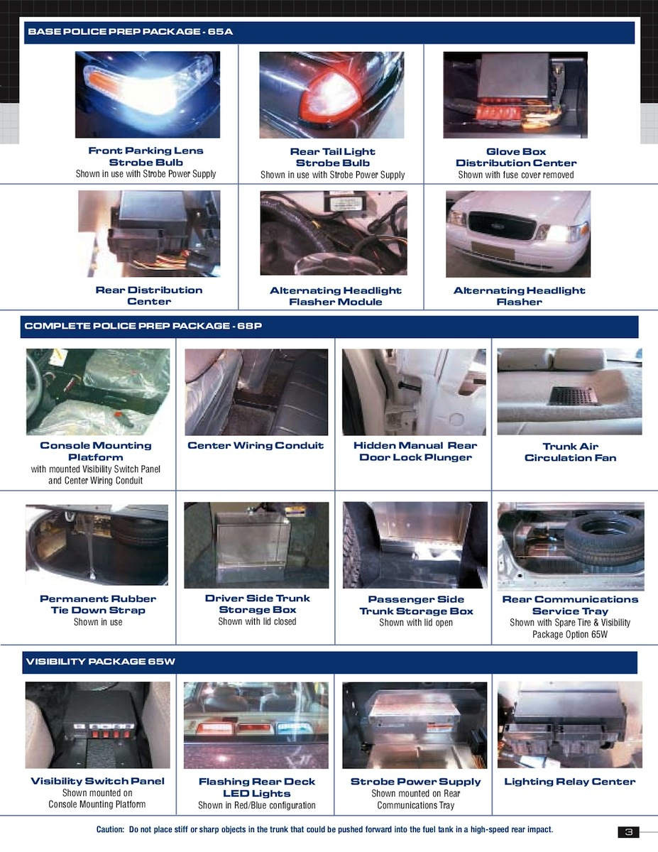 ford  police vehicles sales brochure