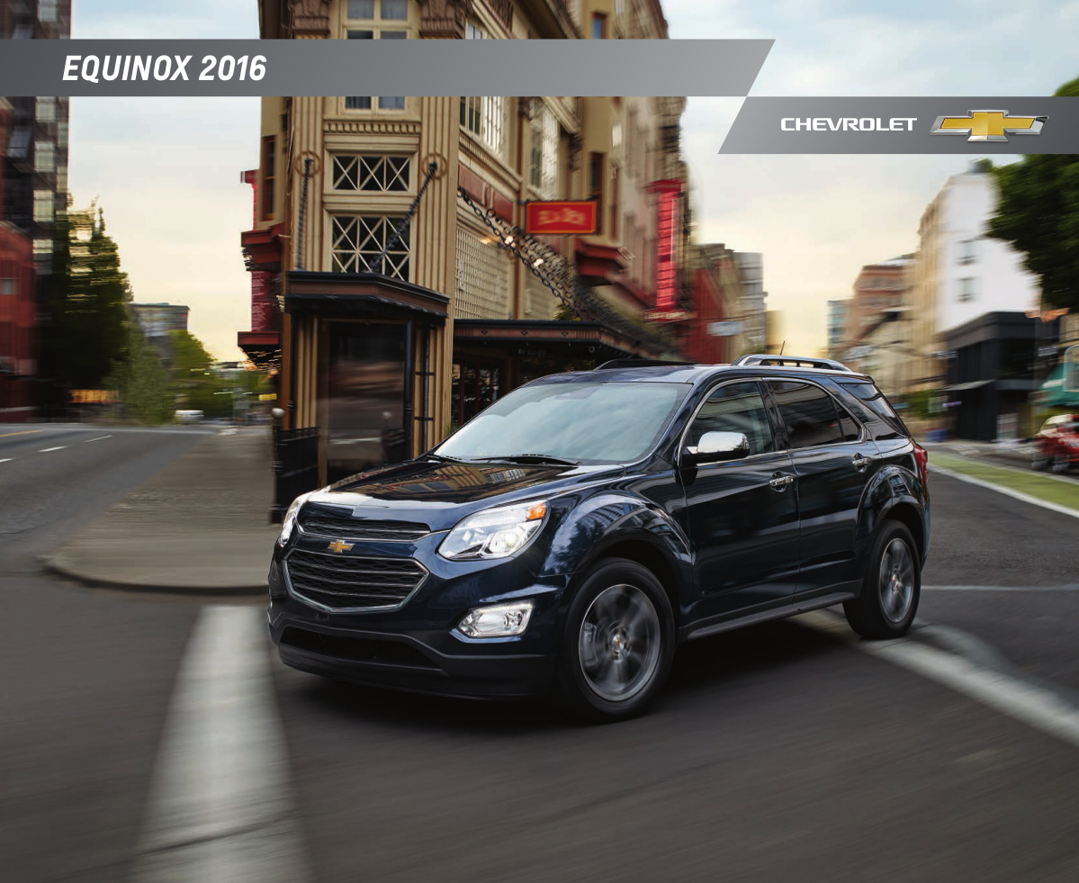 GM 2016 Chevrolet Equinox Sales Brochure