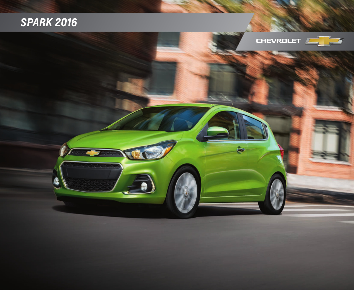 gm 2016 chevrolet spark sales brochure. Black Bedroom Furniture Sets. Home Design Ideas