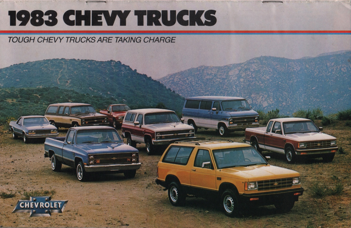 Gm 1983 Chevy Truck Sales Brochure