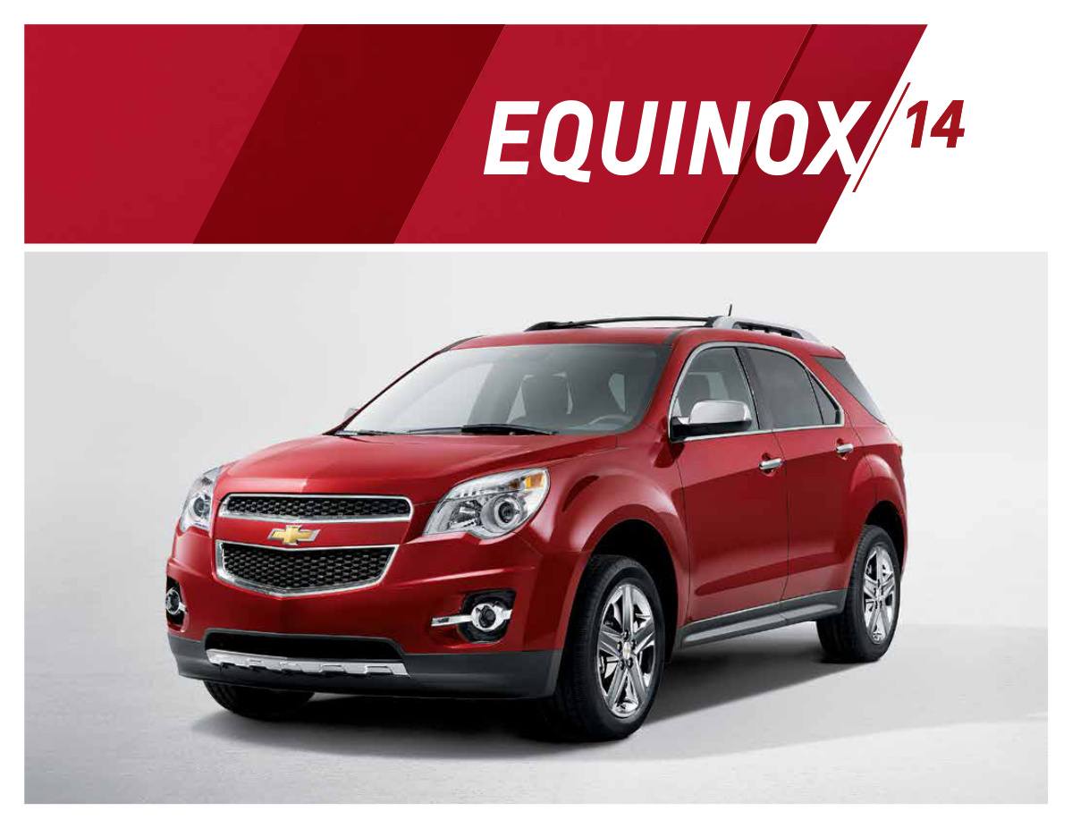 Gm 2014 Chevrolet Equinox Sales Brochure