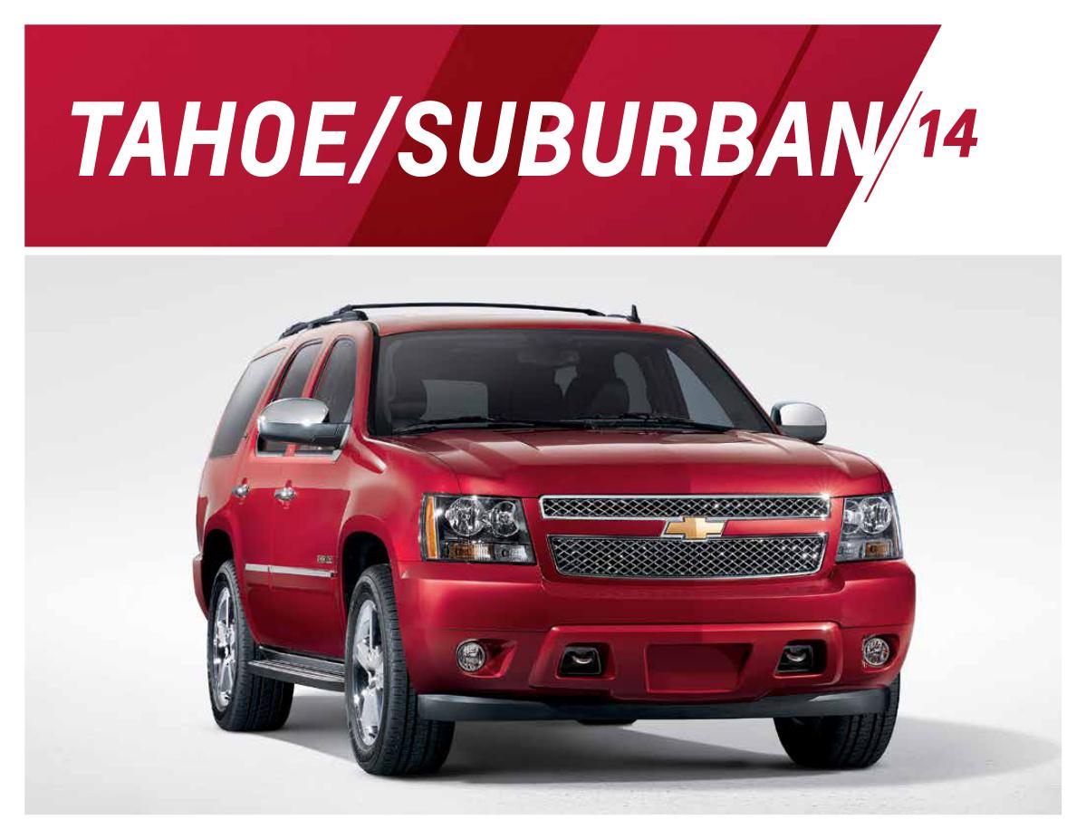 GM 2014 Chevrolet Tahoe Sales Brochure