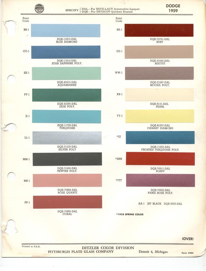 Page 3: 1959 Chrysler Dodge