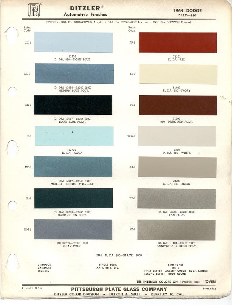 Page 9: 1964 Chrysler Dodge
