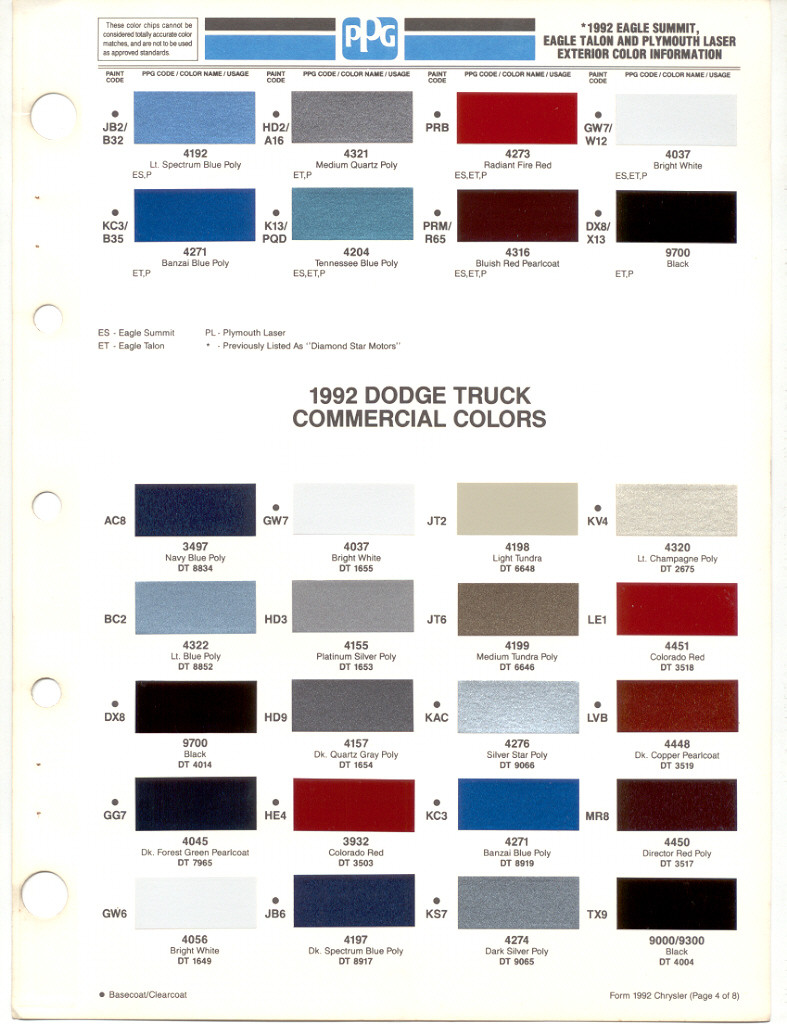 Where Is  Dodge Truck Paint Code