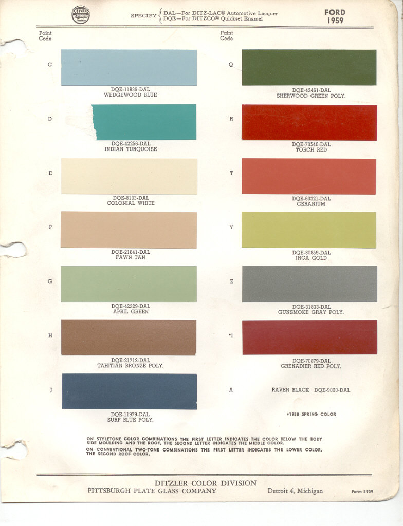 Paint chips 1959 ford edsel nvjuhfo Image collections