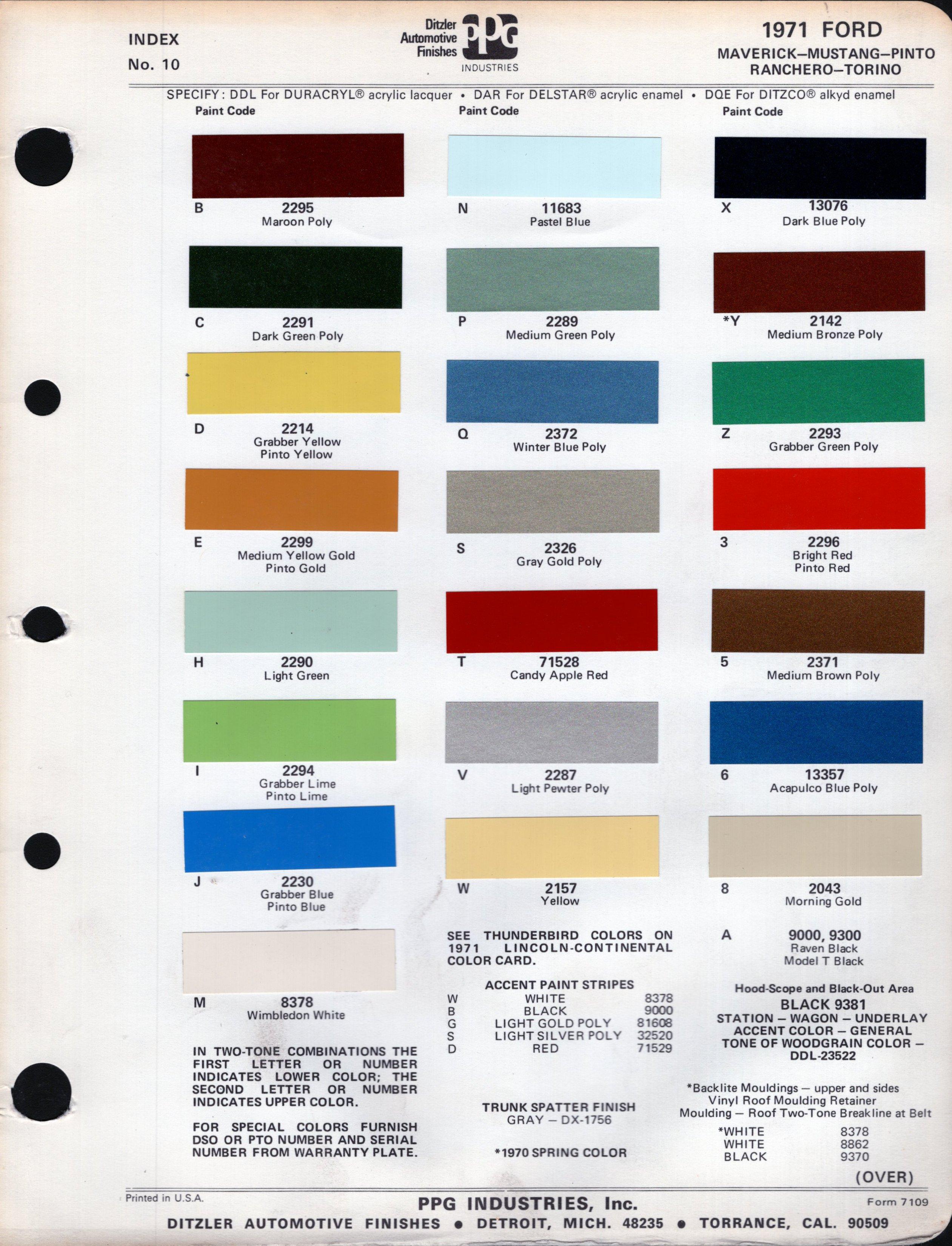 Ford Fleet White Paint Code