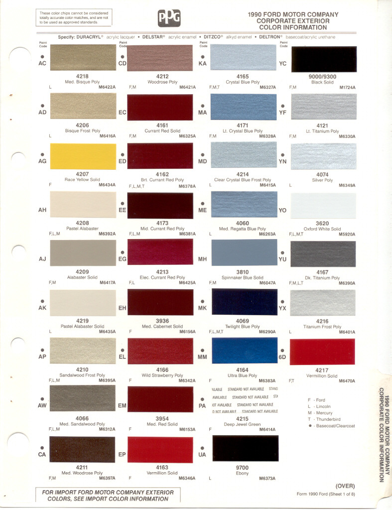 Paint chips 1990 ford truck nvjuhfo Images