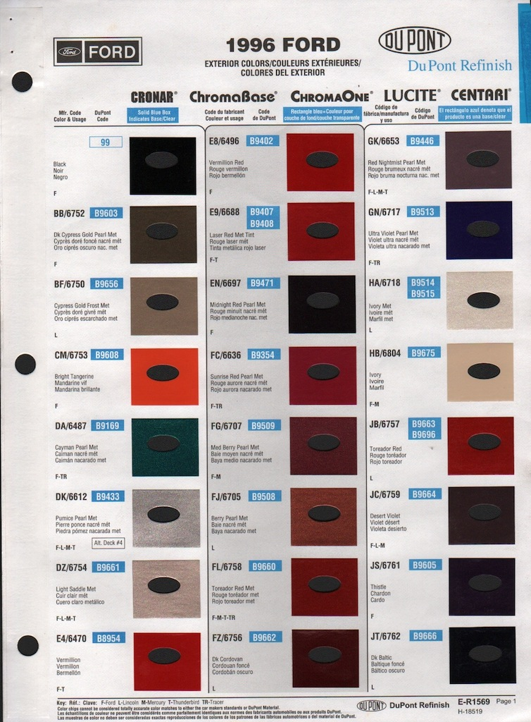 Ford interior touch up paint 2006 ford dupont paint chart for Dupont automotive paint store locator