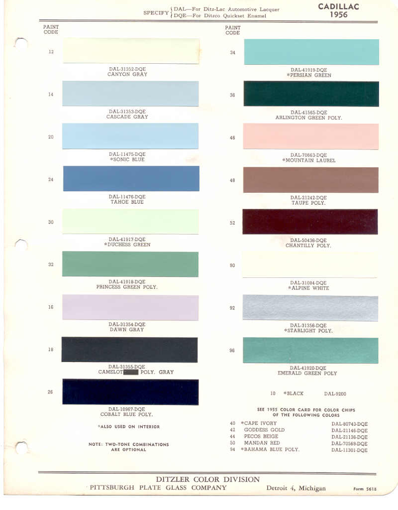 Waffling About The Color Fleetwood - 1969 camaro paint codes colors
