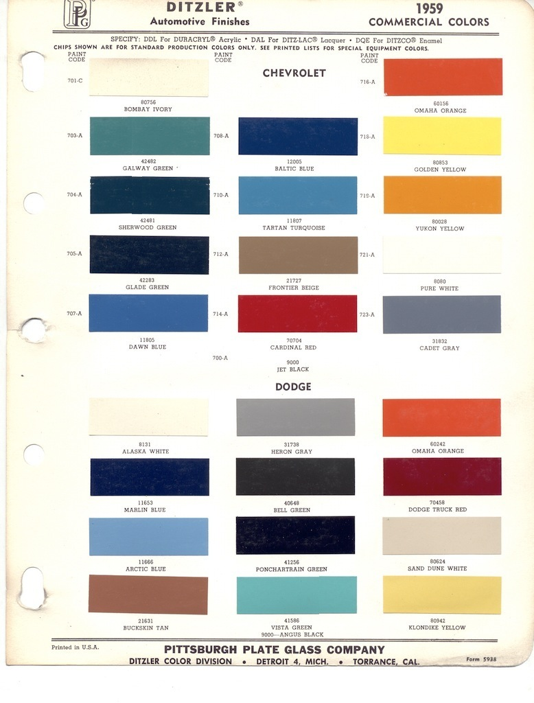 Paint chips 1959 chevy truck nvjuhfo Images