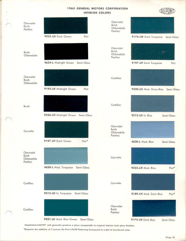Buick Paint Codes