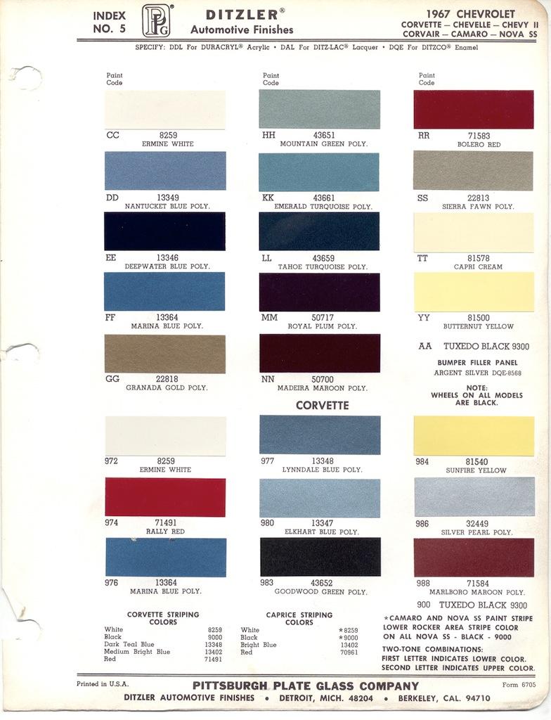 Honda Paint Color Chart >> 1967 Chevy Seafoam Paint | Autos Post