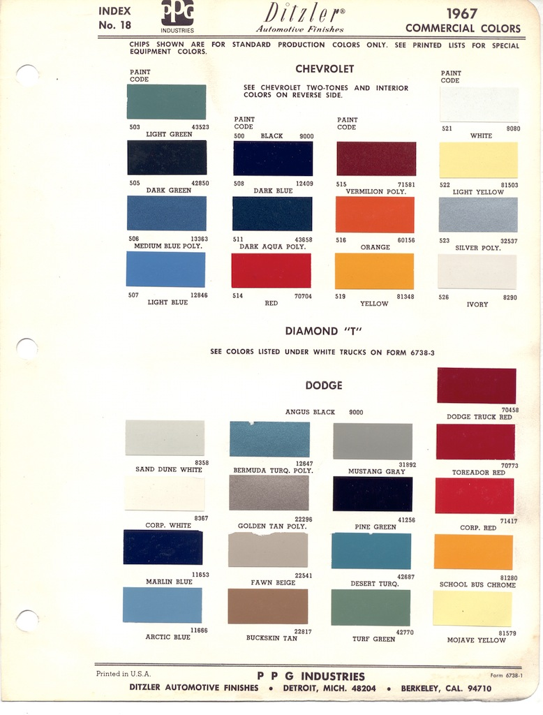 Gm Paint Colors And Codes
