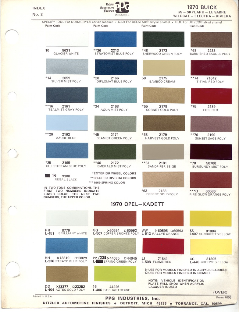 1978 Chevrolet Gmc Truck Paint Chips Color Chart 78 1957 Chevy