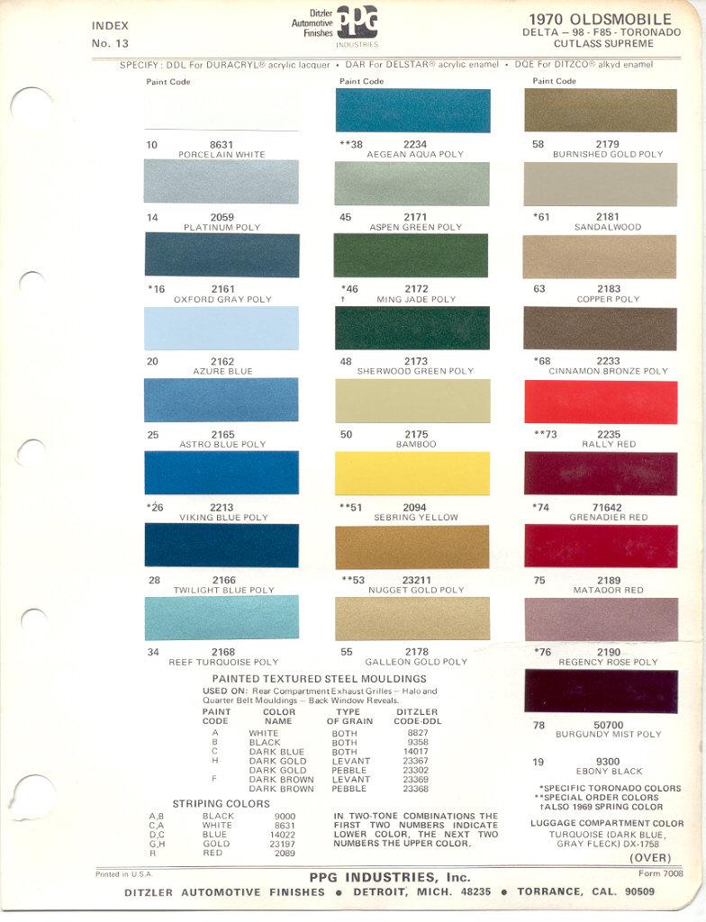 Page 10: 1970 GM Oldsmobile