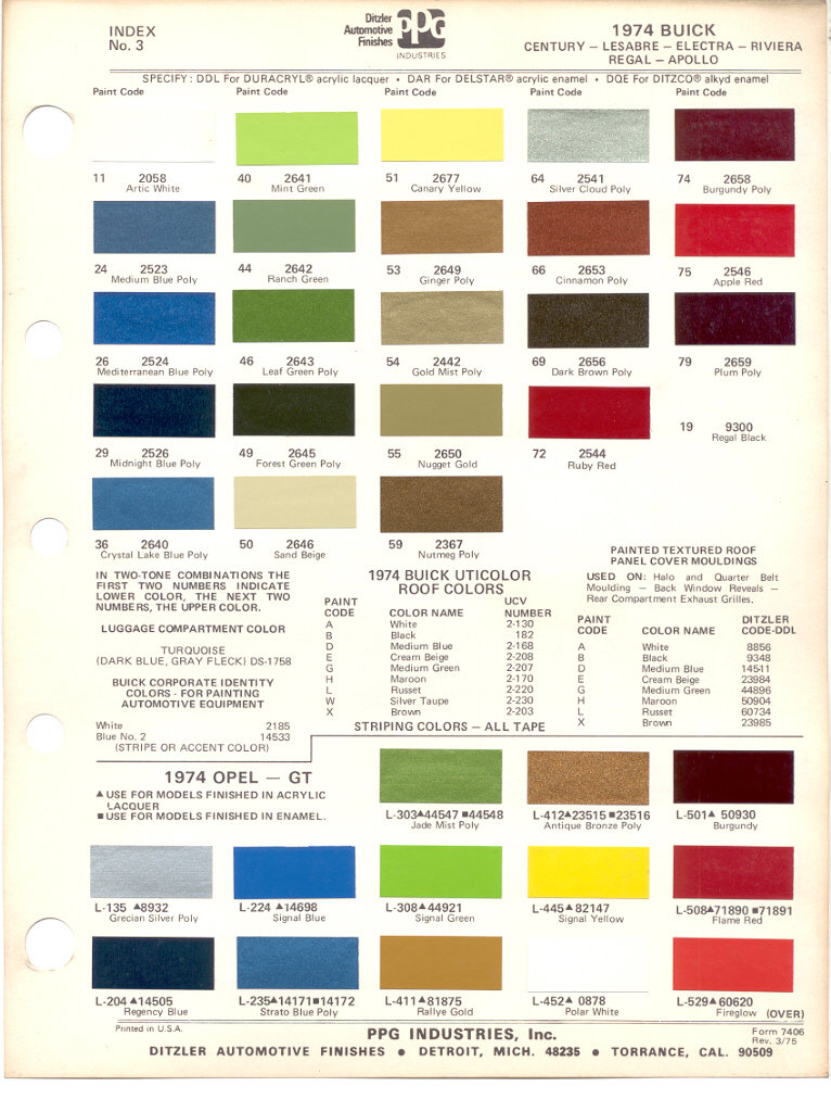 How To Get Color Paint Code For  Buick Century