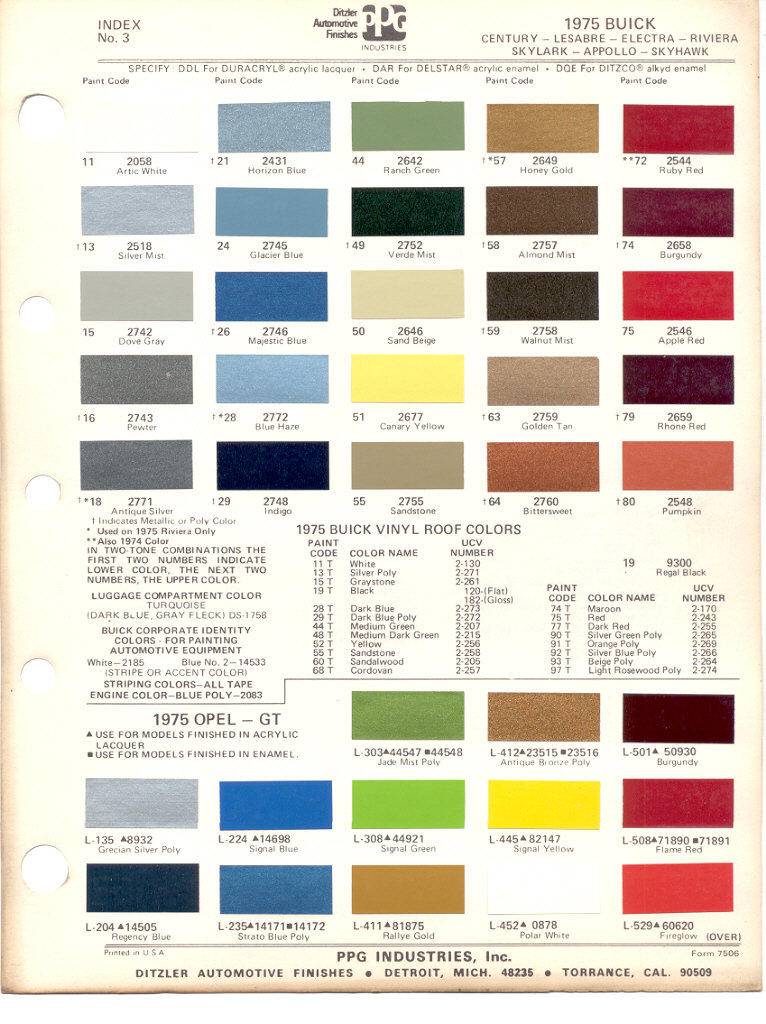 Gm Interior Color Chart Timiznceptzmusic