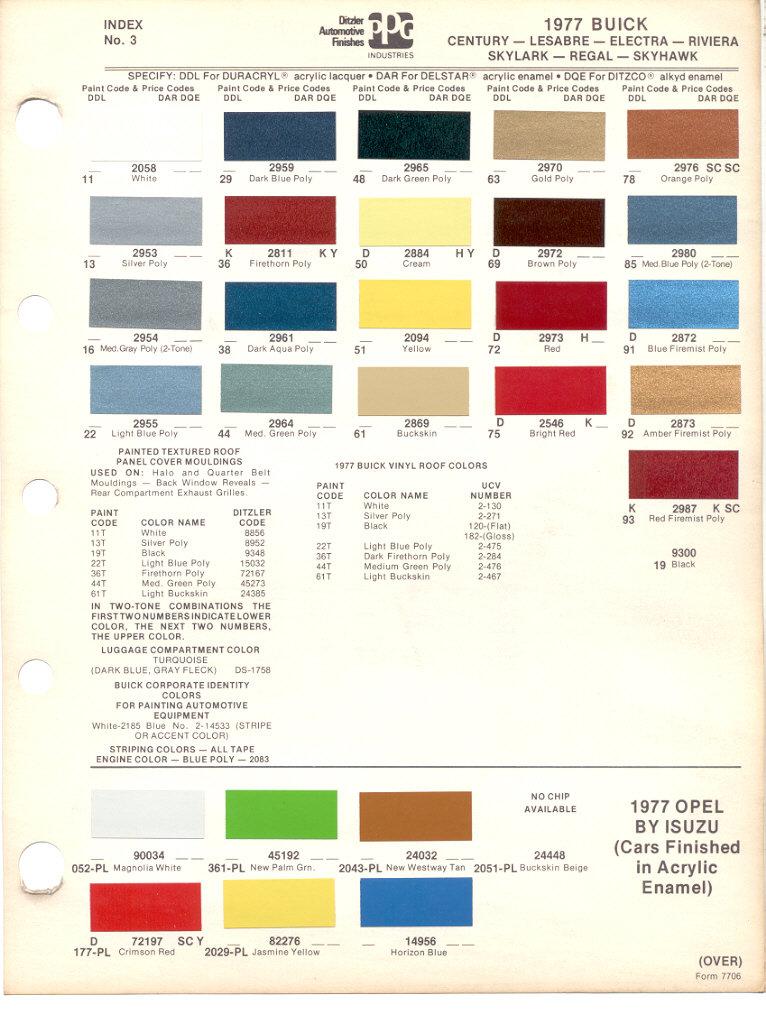 Suzuki Samurai Paint Codes