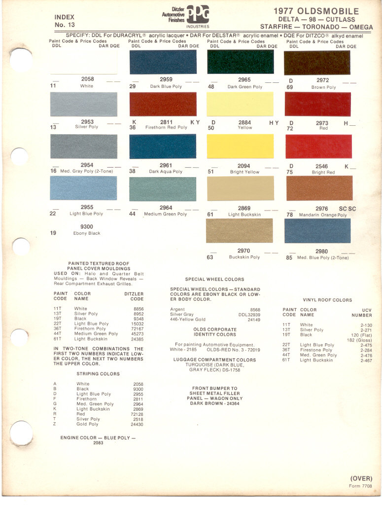 442 Engine Coloron 1966 Mustang Interior Colors