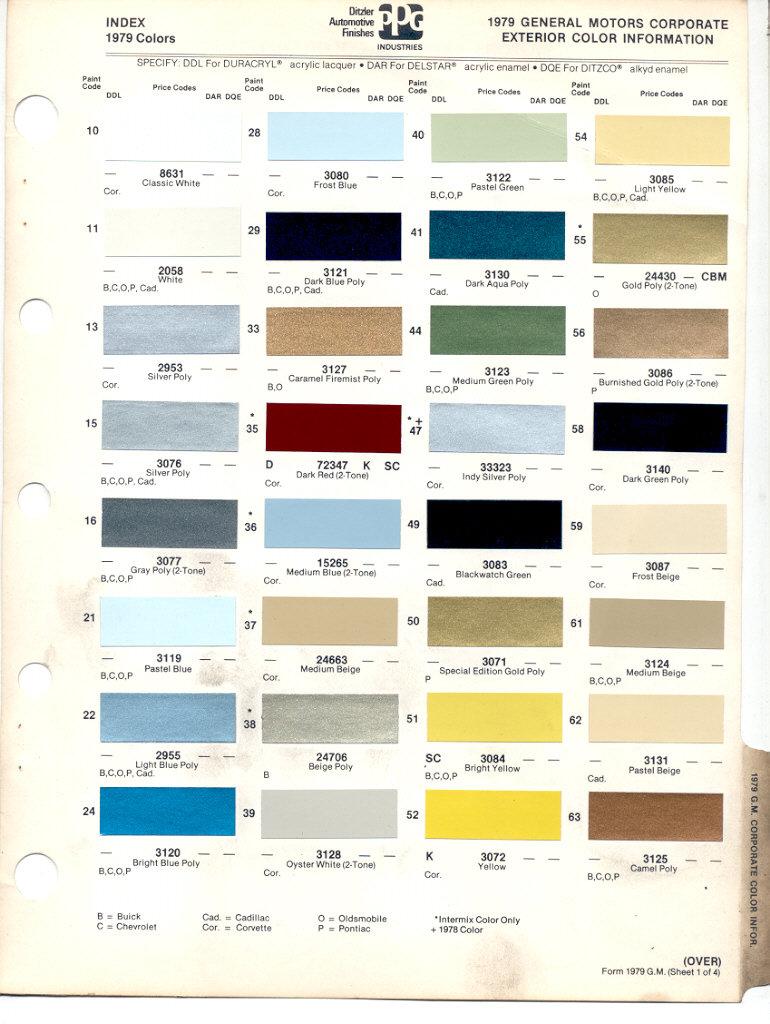 Gm Interior Paint Codes